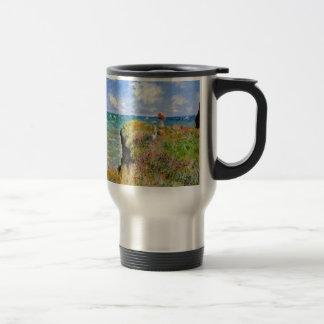 Clifftop Walk at Pourville - Claude Monet Travel Mug