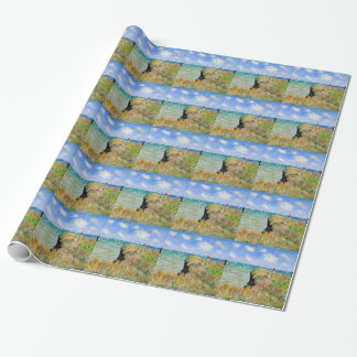 Clifftop Walk at Pourville - Claude Monet Wrapping Paper