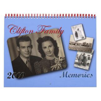 Clifton Family Memories 09 Calendar