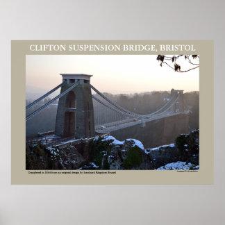 Clifton Suspension Bridge, Bristol Poster