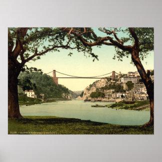 Clifton Suspension Bridge I, Bristol, England Poster