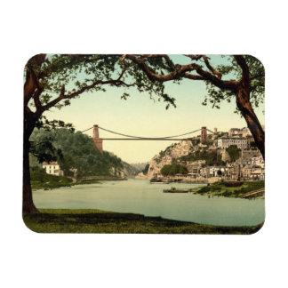 Clifton Suspension Bridge I, Bristol, England Rectangular Photo Magnet