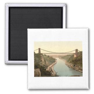 Clifton Suspension Bridge II, Bristol, England Square Magnet