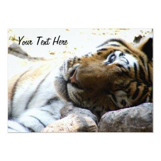 Cligner de l'oeil le tigre carton d'invitation  12,7 cm x 17,78 cm