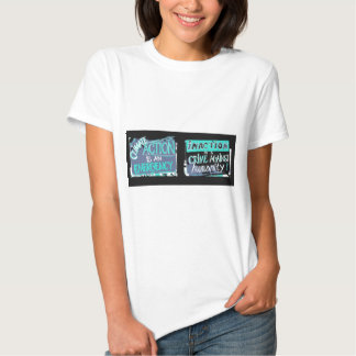 Climate action is an emergency; inaction a crime tshirts