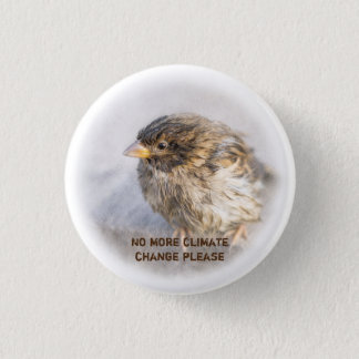 Climate change awareness 1 inch round button