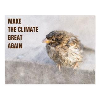 Climate change awareness postcard
