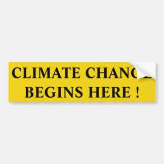 climate change bumper sticker