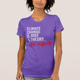 CLIMATE CHANGE IS JUST A THEORY LIKE GRAVITY - - P T-Shirt