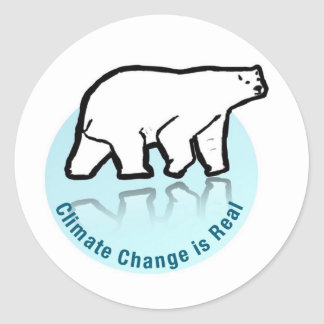 Climate change is real classic round sticker