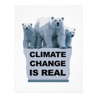 CLIMATE CHANGE IS REAL LETTERHEAD
