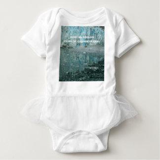 Climate Change Is Real Melting Glacier Baby Bodysuit