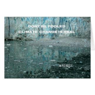Climate Change Is Real Melting Glacier Card
