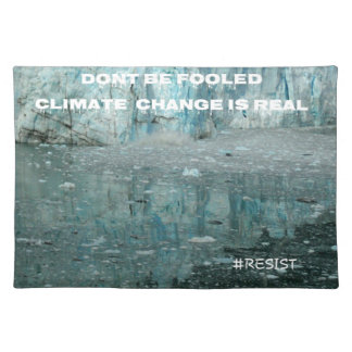 Climate Change Is Real Melting Glacier Placemat