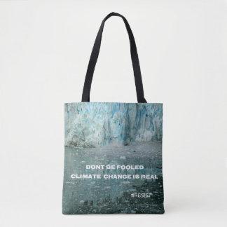 Climate Change Is Real Melting Glacier Tote Bag