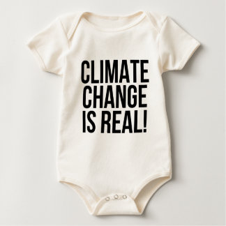 Climate Change is Real! Planet Earth World Baby Bodysuit