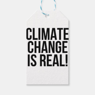 Climate Change is Real! Planet Earth World Gift Tags
