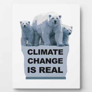 CLIMATE CHANGE IS REAL PLAQUE