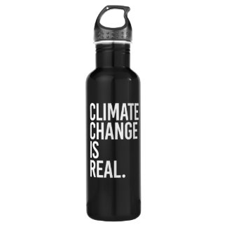 Climate Change is Real - - white - 710 Ml Water Bottle