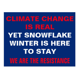 Climate Change Snowflake Winter Resistance Postcard