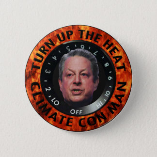 Climate Con Man 2 Inch Round Button