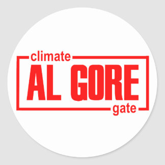 ClimateGate, lie, climate change, global warming Round Sticker