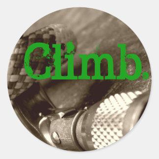Climb2 Round Sticker