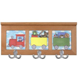 climb aboard the kid train coat rack