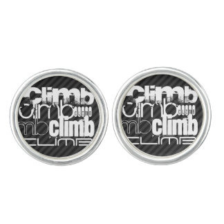 Climb; Black & Dark Gray Stripes Cufflinks