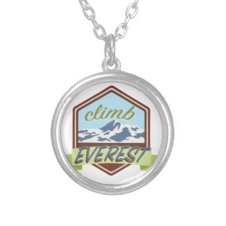 Climb Everest Silver Plated Necklace