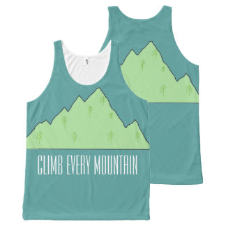 Climb Every Mountain unisex tanktop All-Over-Print Tank Top