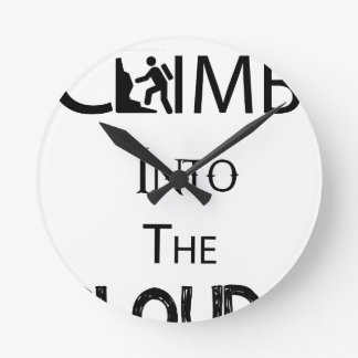 Climb Into The Clouds Wallclock