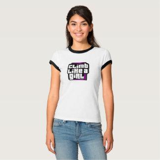 Climb Like a Girl Customizable T-Shirt