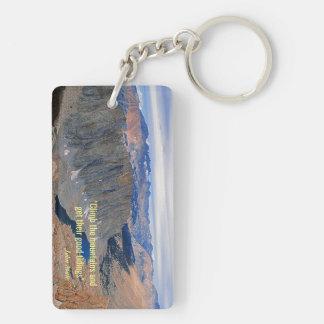 Climb the Mountains Keychain