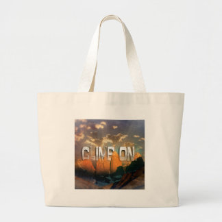 Climb the Mountains Large Tote Bag