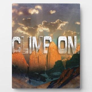 Climb the Mountains Plaque
