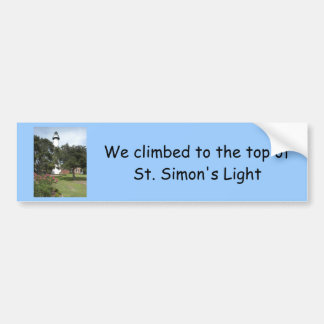 Climbed to Top of St Simon's Light Bumper Sticker