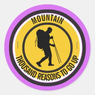 Climber Classic Round Sticker