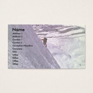 Climber on south face of Annapurna, 5800 meters, N Business Card