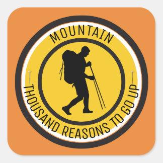 Climber Square Sticker