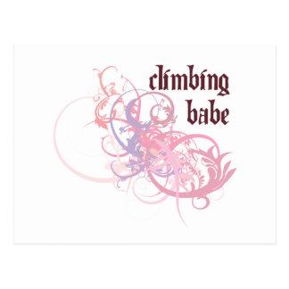 Climbing Babe Postcard