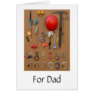 Climbing Equipment card for Dad