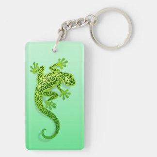 Climbing Green Gecko Keychain