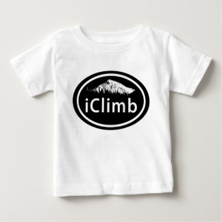 "Climbing ""iClimb"" Oval Mountain Tag Baby T-Shirt"