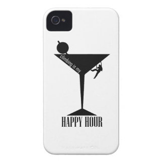 Climbing Is My Happy Hour iPhone 4 Covers