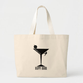 Climbing Is My Happy Hour Large Tote Bag