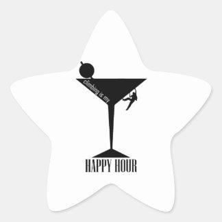 Climbing Is My Happy Hour Star Sticker