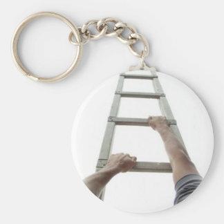 Climbing Jacob's Ladder Basic Round Button Keychain