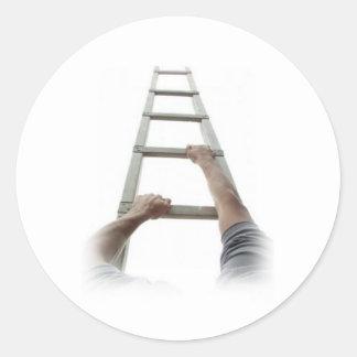 Climbing Jacob's Ladder Round Sticker