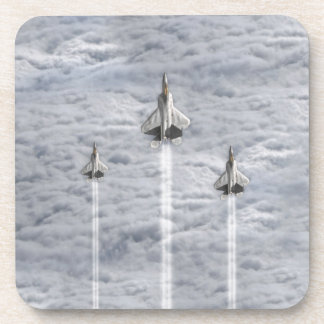 Climbing Jets in the Clouds Beverage Coasters